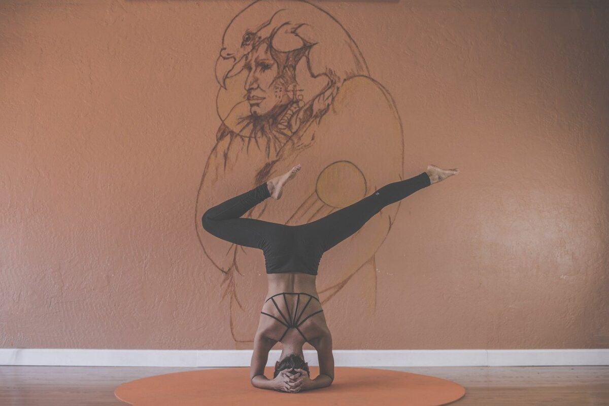 yoga in a lounge